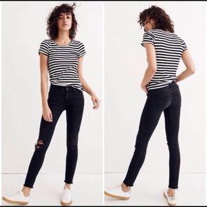 Black madewell distressed skinny jeans